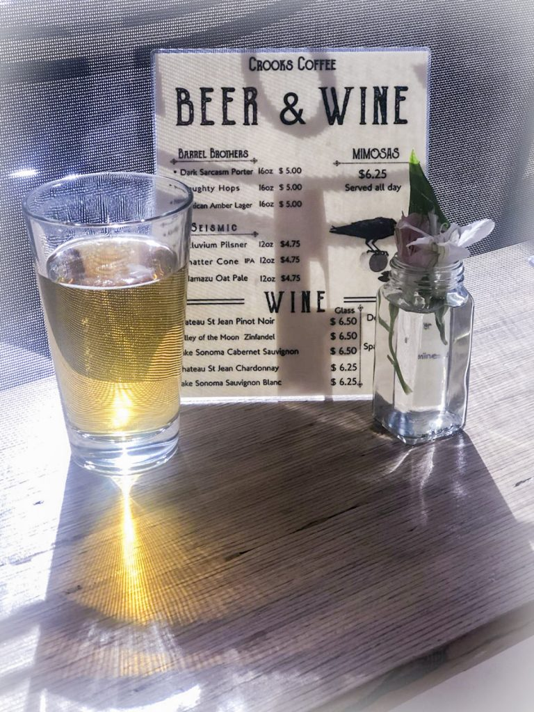 Crook's Beer and Wine Menu
